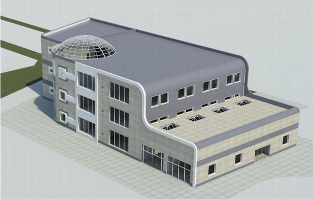 Wizualizacja obecnego budynku