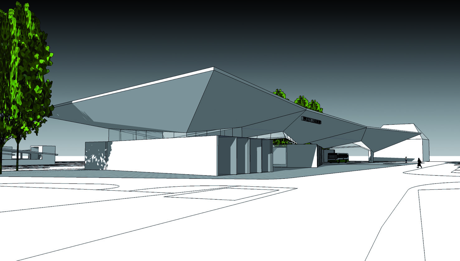 Jedna z pierwszych koncepcji budowy dworca nie znalazła zbyt wielu zwolenników