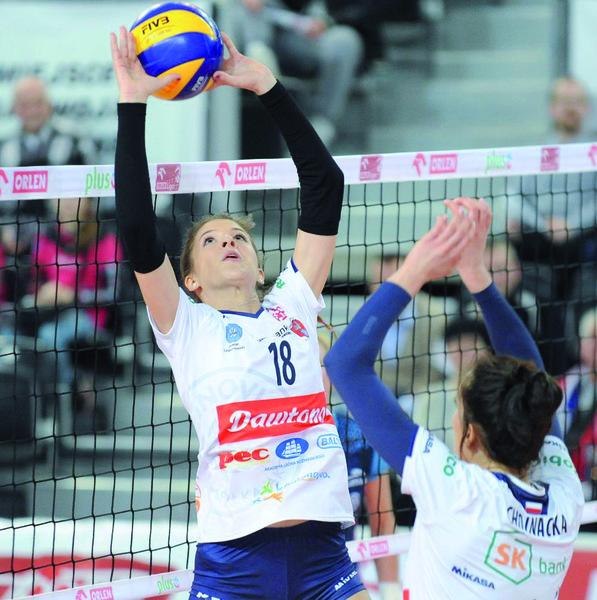 Alicja Grabka MVP ostatnich MP Juniorek,, ma już za sobą występy w zespole seniorek Legionovii. Fot. fotoMiD