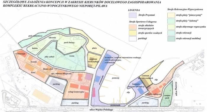 Koncepcja gminy odnośnie zagospodarowanie Kompleksu Nieporęt-Pilawa.