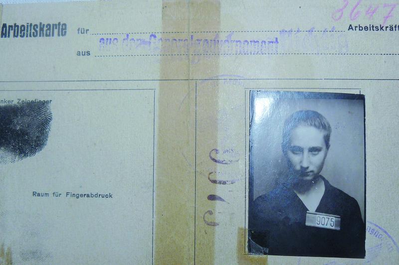Niemiecka karta zatrudnienia pani Janiny.