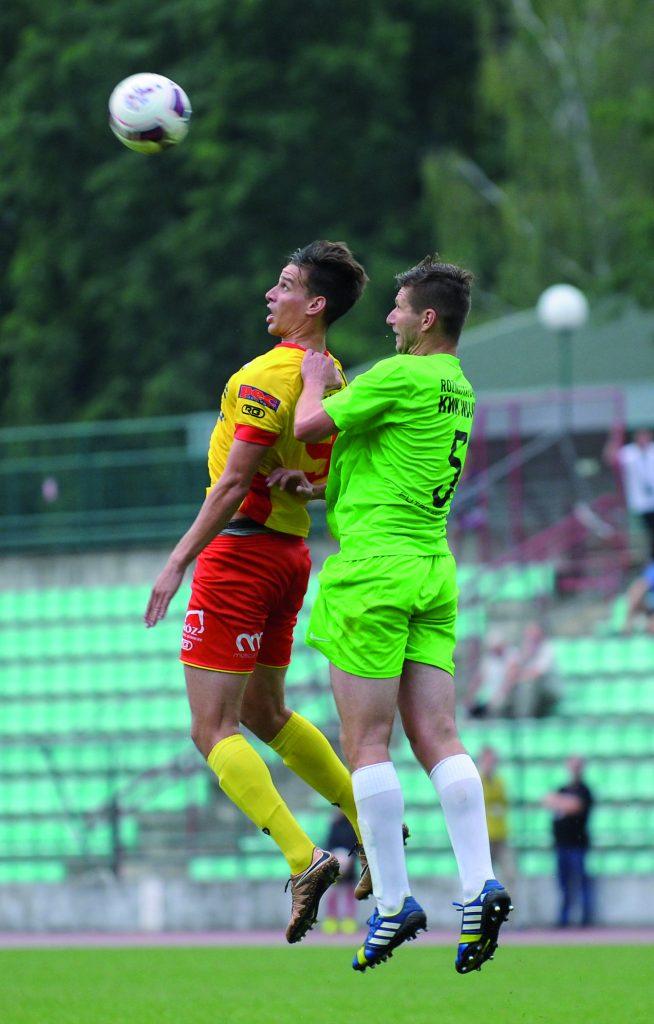 Ivan Jovanović na swoją pierwszą bramkę wlegionowskich barwach musi jeszcze poczekać. Fot. fotoMiD
