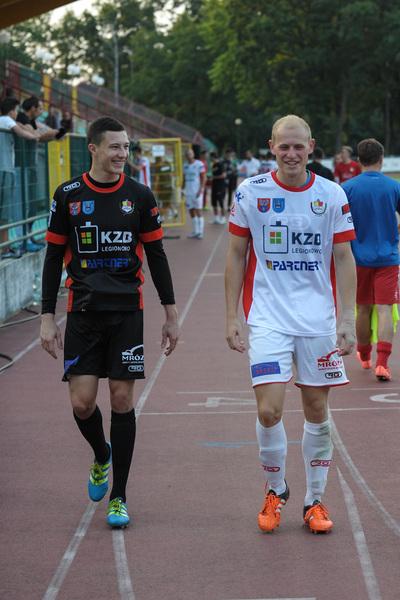 Pilka nozna. II liga. Legionovia Legionowo - Olimpia Zambrow. 13.08.2016