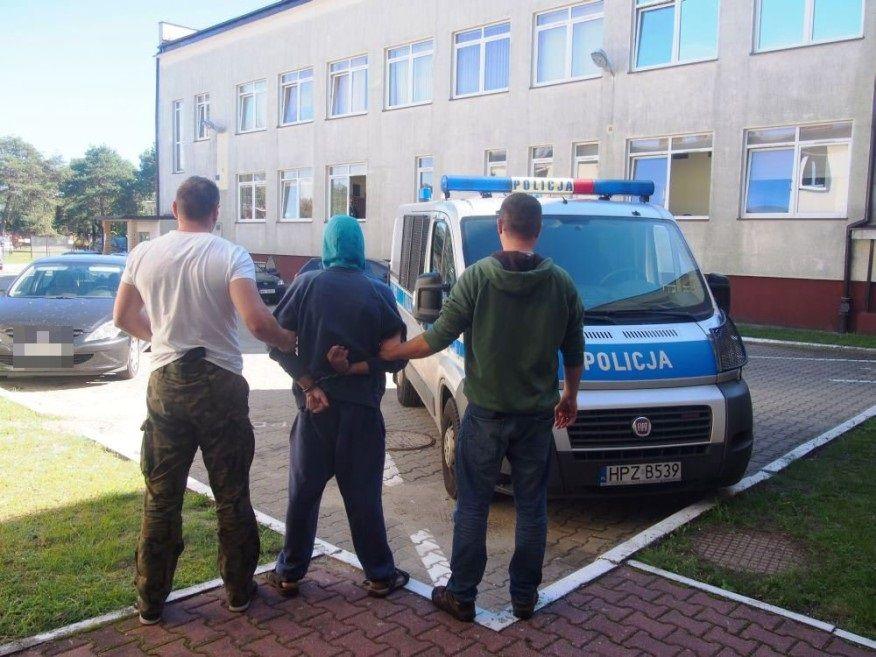 Nożownik w rękach policji. Fot. KPP Legionowo
