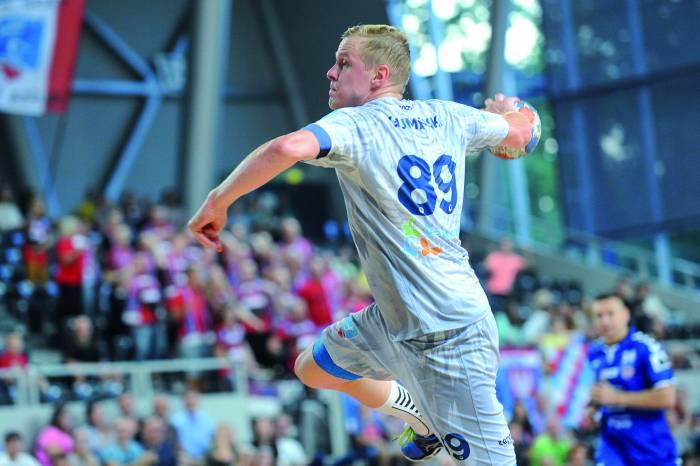Wojciech Gumiński zdobył soiem bramek, strzelał nie tylko z rzutów karnych. Fot. fotoMiD