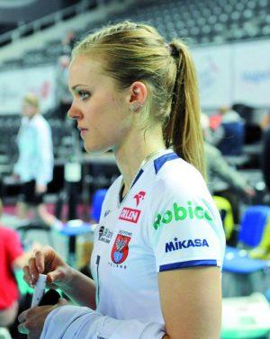 Natalia Gajewska przez dwa sezony reprezentowała legionowskie barwy. W tym młoda 22-letnia rozgrywająca  poprowadziła już swój macierzysty klub do zwycięstwa nad Legionovią Fot. fotoMiD