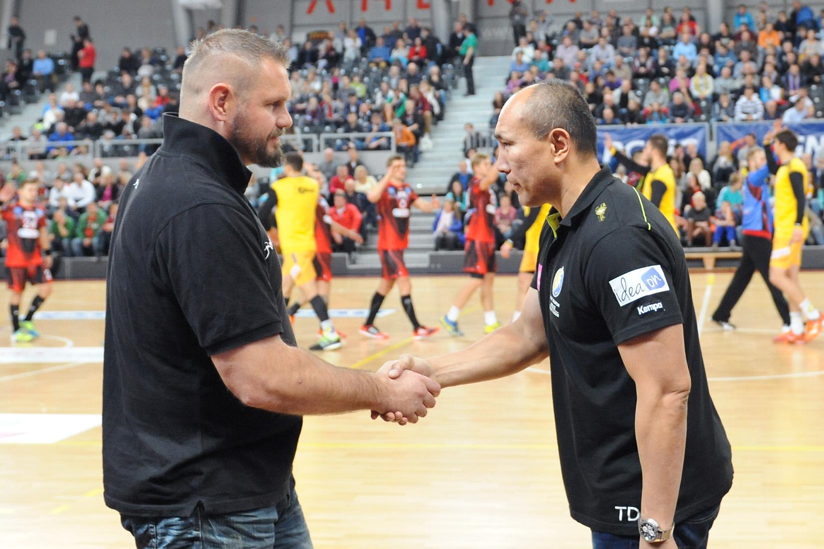 Robert Lis i Talant Dujszebajew współpracują na meczach reprezentacji, rywalizują w zmaganiach ligowych Fot. fotoMiD