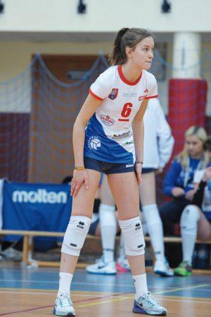 Gotowa do przyjęcia kapitan zespołu Paulina Sobolewska      Fot. fotoMiD