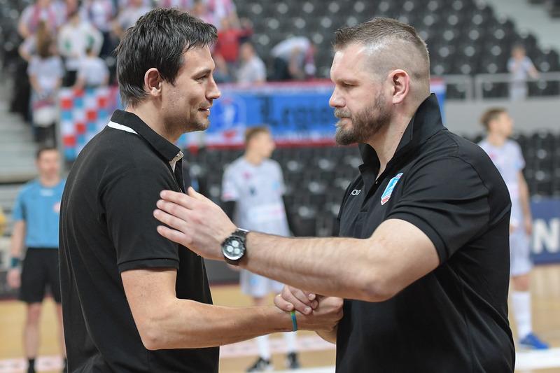Marcin Lijewski i Robert Lis. Jeszcze niedawno doskonali piłkarze ręczni, reprezentanci kraju, dziś trenerzy Fot. fotoMiD