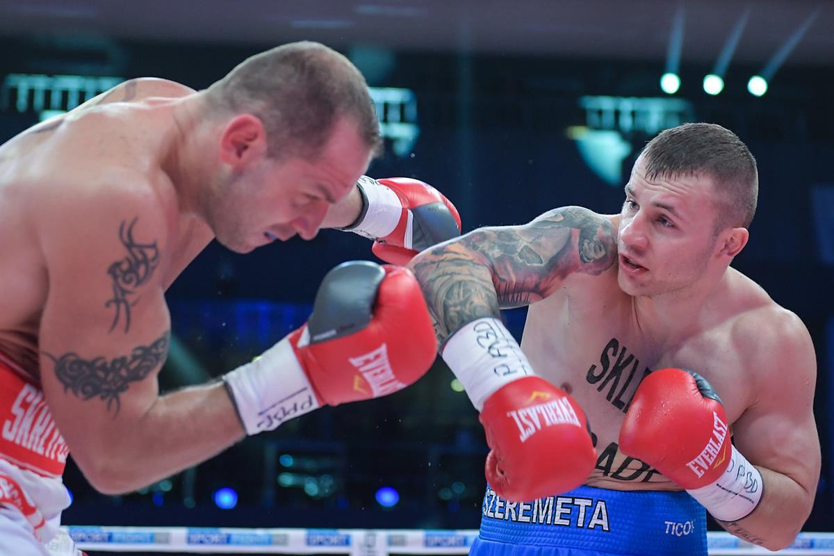 Kamil Szeremeta pokonał na punkty Sebastiana Skrzypczyńskiego Fot. fotoMiD
